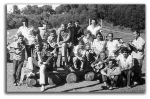 Personal de Unelco en La Laguna Grande 1969