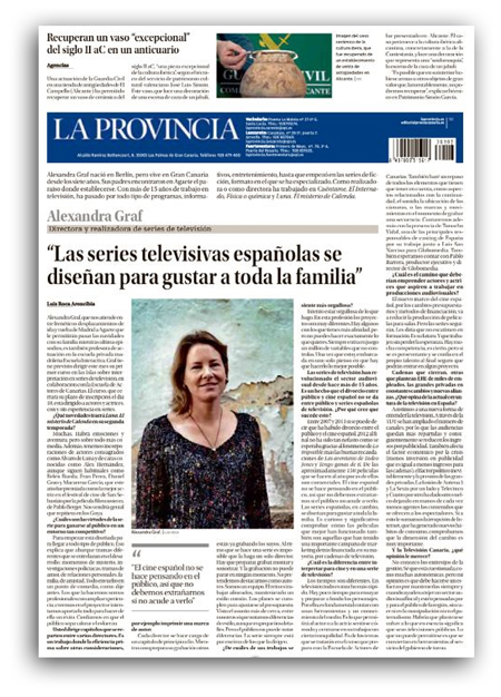 Entrevista Alexandra Graf La Provincia