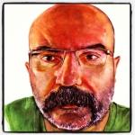 Paco Delgado en ilustración de José Manuel Hortelano-Pi