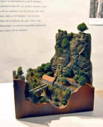 Detalle de la maqueta de la central El Electrón, realizada por Gregorio González.