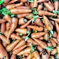 Zanahorias en el mercado de San Lorenzo.