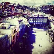 Plaza de Santa Ana y riscos.