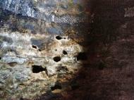 Pared de la cueva número 6, justo después de finalizar el efecto. LUIS ROCA ARENCIBIA