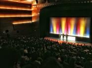 """El director y el productor de la Palma de Oro de este año """"La vida de Adèle"""" presentan la película en un Kursaal abarrotado . LUIS ROCA ARENCIBIA"""