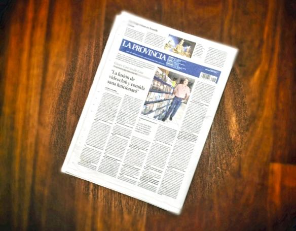 Así se veía esta mañana la entrevista, tal y como ha salido publicada en la contraportada de La Provincia / LUIS ROCA ARENCIBIA