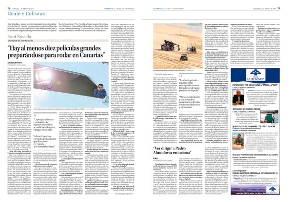 La entrevista, tal y como fue publicada el 2 de febrero en el periódico La Provincia