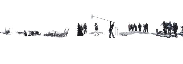 Panorámica del rodaje, tomada el primer día durante la filmación en Finse (Noruega). / Foto: LEANDRO BETANCOR
