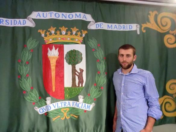 Carlos Fernández Esquer, fotografiado en instalaciones de la Universidad Autónoma de Madrid. / OAC