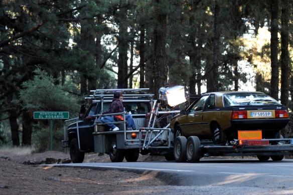 """'Camera car' durante el rodaje del cortometraje """"La criada"""" (Javier Fernández-Caldas, 2009)"""