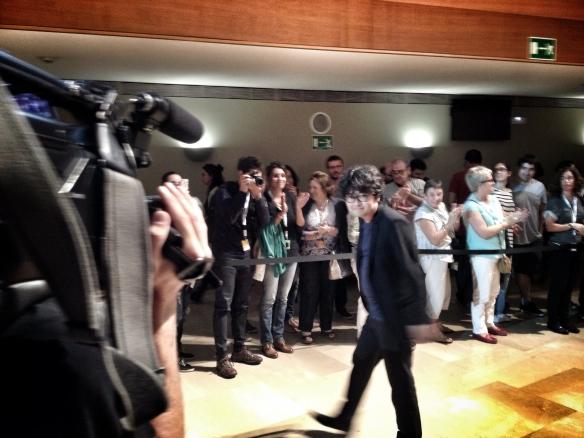 El directos surcoreano de Haemoo recibió los aplausos del respetable tras la proyección en el Kursaal. /LUIS ROCA ARENCIBIA