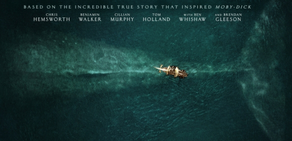 "Cartel del filme ""In The Heart Of The Sea"", de Ron Howard"", basado en la misma historia que inspiró ""Moby Dick"" y rodado también en las islas Canarias."