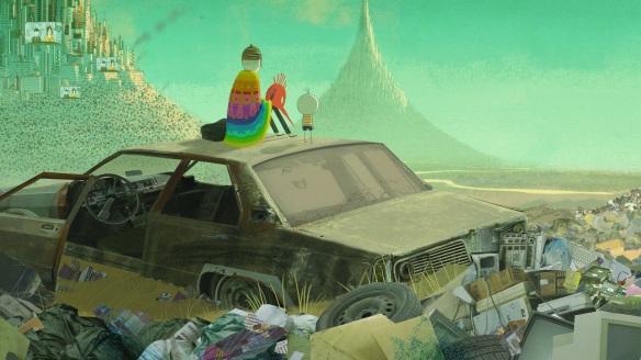 """Momentos de """"O menino e o mundo"""" recuerdan a momentos que recuerdan a los filmes """"Yellow Submarine"""" y """"The Wall""""."""
