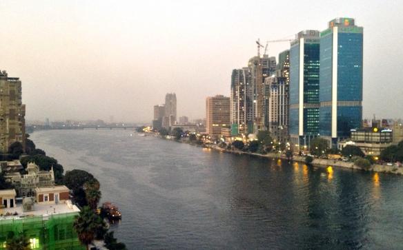 El río Nilo desde la habitación 1261 del Hotel Marriott Cairo.