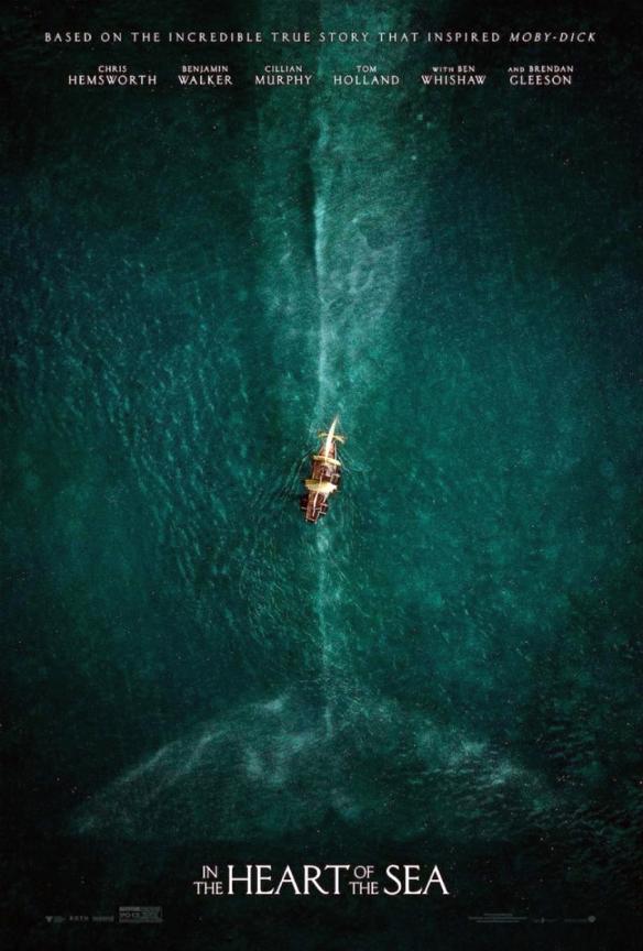 """Cartel promocional de """"En el corazón del mar"""", que se estrenará el próximo 11 de diciembre de 2015."""