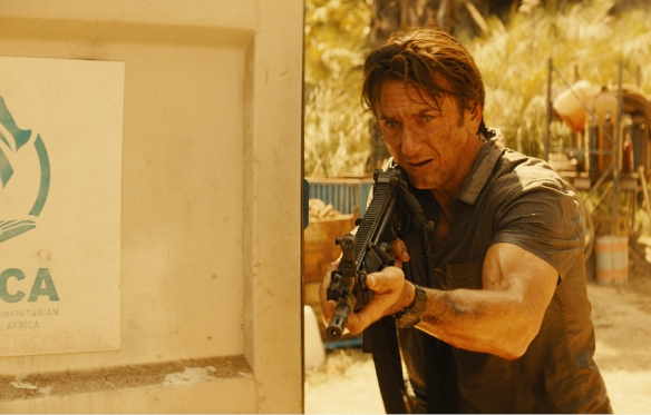 "Sean Penn en ""The Gunman"", producida por Joe Silver, Sean Penn y Adrián Guerra."