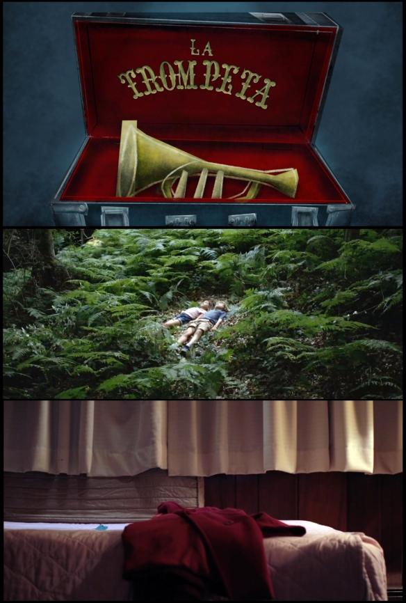 """De arriba abajo, imágenes de """"La trompeta"""", """"Eclipse"""" y Silver Sands Motel""""."""
