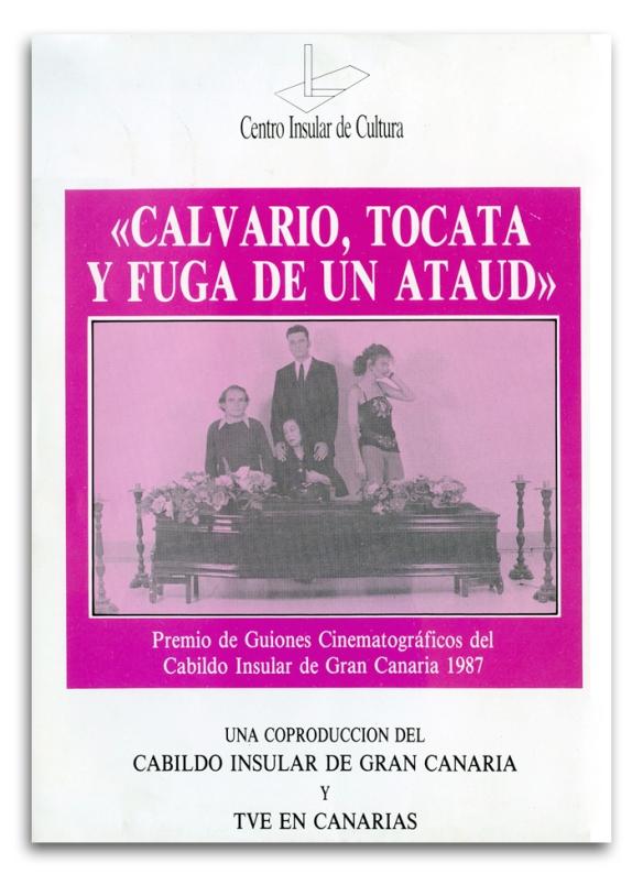 """Flyer promocional de """"Calvario, tocata y fuga de un ataúd"""", editado por el Cabildo de Gran Canaria / GCED-OAC"""