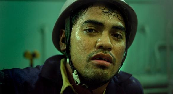 Uno de los marineros filipinos, en el filme de Mauro Herce. / EL VIAJE FILMS / OAC
