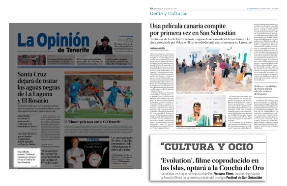 La noticia apareció por primera vez el domingo, 9 de agosto, en La Provincia. Dos días más tarde, fue portada en La Opinión de Tenerife y Diario de Avisos se hizo eco.