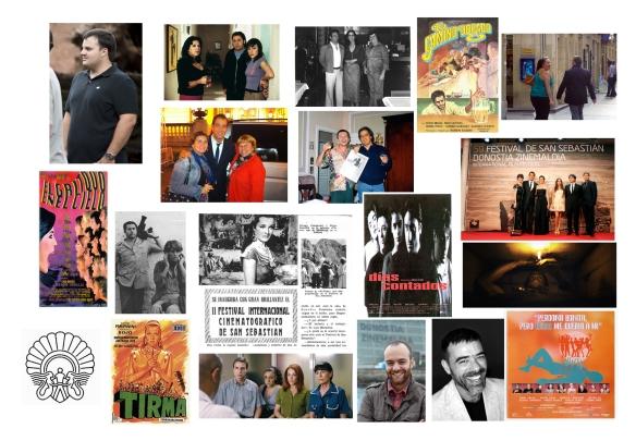 Imágenes con algunas de las presencias del cine en relación con Canarias en el festival donostiarra. / OAC