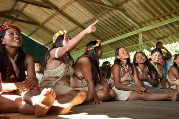 Mujeres waorani, en el Amanzonas ecuatoriano. /OAC