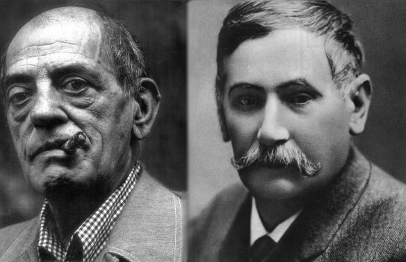 Retratos de Luis Buñuel (i) y Benito Pérez Galdós / OAC