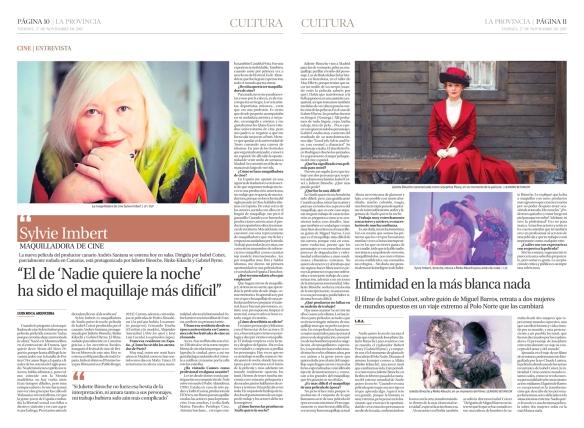 Así fue publicada la entrevista ayer en el periódico La Provincia. / OAC