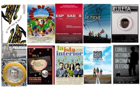 Carteles de algunas de las películas producidas por La Mirada / OAC