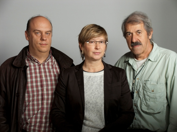 Alfonso Ruiz, Ana Sánchez-Gijón y Juan Antonio Castaño, los tres socios de la productora La Mirada / LA MIRADA