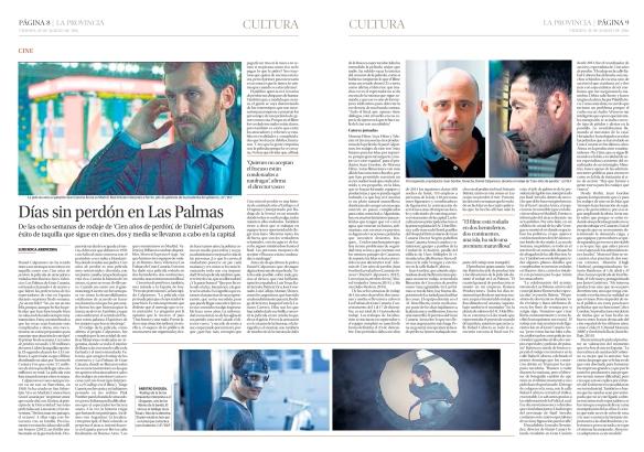 Así salió publicado el reportaje en el periódico La Provincia. / OAC