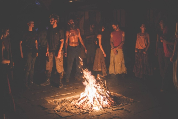 Los habitantes de la ecoaldea de Matavenero participaron como actores en la película. / OAC