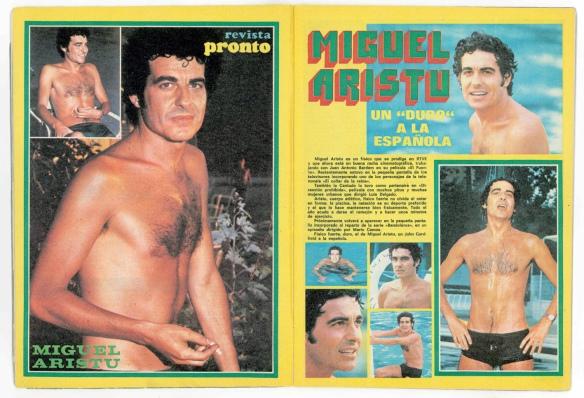 Interior de la revista Pronto de 1976 con reportaje dedicado a Miguel Aristu. / OAC