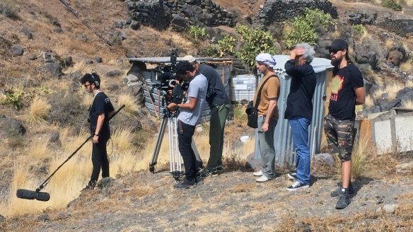 Rodaje de La Rama el 4 de agosto de 2013. Andrés Santana (2i), Sigfrid Monleón (3i) y Chechu Graf (4i). / ISABELLE STOFFEL