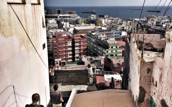 Vista del barrio de Triana desde la calle Malta. / LUIS ROCA ARENCIBIA
