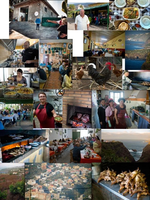 Distintas fotografías de los guachinches y restaurantes mencionados. / LUIS ROCA ARENCIBIA