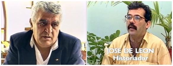 A la izquierda, Manolo García; a la derecha, José de León (Pepe El Uruguayo), entrevistados en el documental. / OAC